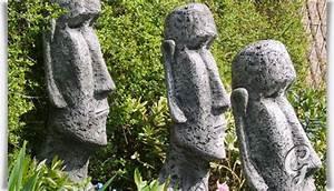 Skulpturen Für Garten : osterinsel moai kopf aus stein f r den garten moai head ~ Watch28wear.com Haus und Dekorationen