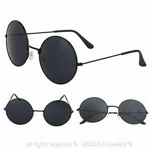 Lunette Soleil Ronde Homme : paire de lunettes de soleil rondes vintage verres ronds ~ Nature-et-papiers.com Idées de Décoration