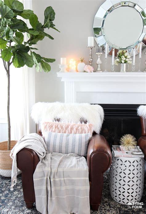 easy spring mantel decorating ideas setting