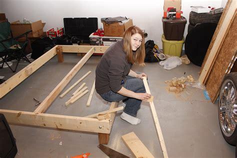 build a bed diy platform bed frame plans woodworking