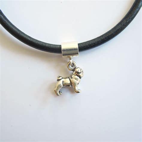 pug mini sterling silver european style charm  bracelet