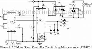 ac motor speed controller circuit using at89c51 With ac motor speed controller circuit dc drill speed controller circuit dc