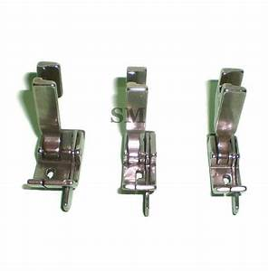3 Pcs Industrial Sewing Machine Hinged Right Guide Feet