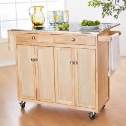 the portable kitchen island with optional stools - Hayneedle Kitchen Island