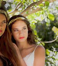 Chloe Double Greek Leaf Hair Jewellery, Brida…
