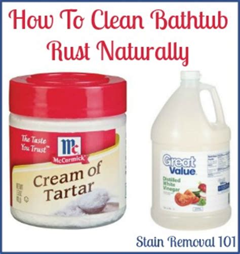 how to clean a bathtub removing rust stains from bathtub home remedies