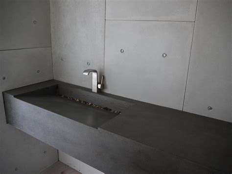 comptoir ciment cuisine comptoirs en béton pour cuisine ou salle de bain