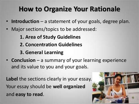 planning writing your rationale essay