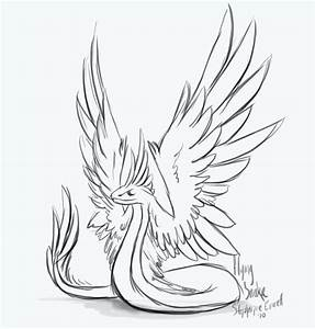 Winged Snake sketch by Anuxinamoon on DeviantArt