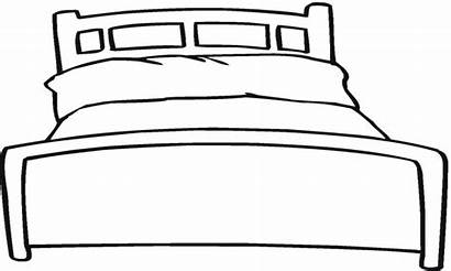Bed Clipart Coloring Canopy Printable Template Clipartmag