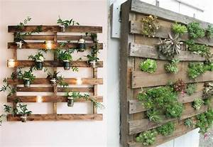 un jardin vertical en palettes joli place With idee pour jardin exterieur 0 idees deco futees pour petit balcon joli place