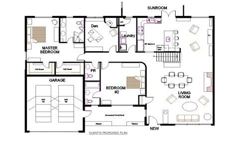 bungalow open concept floor plans small open concept