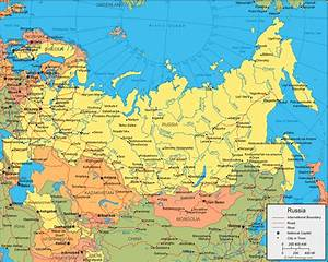 Russia Map and Satellite Image