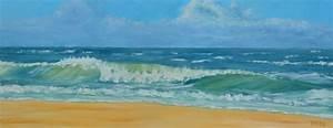 Tableaux Mer Et Plage : tableau peinture vague mer plage soleil vague et plage ~ Teatrodelosmanantiales.com Idées de Décoration