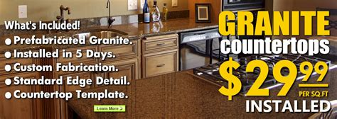 granite countertops quartz surfaces sale 29 99 installed