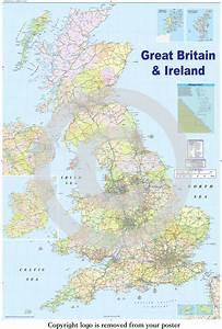 United Kingdom Gb Road Map - Maxi Paper Poster