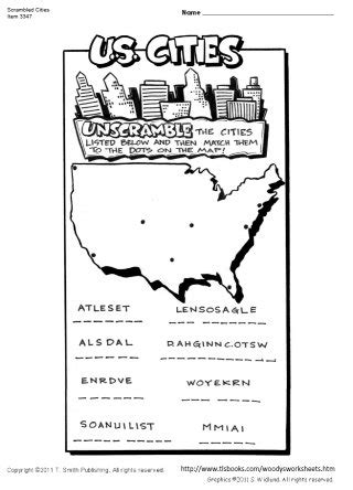 map of united states 2nd grade direct map
