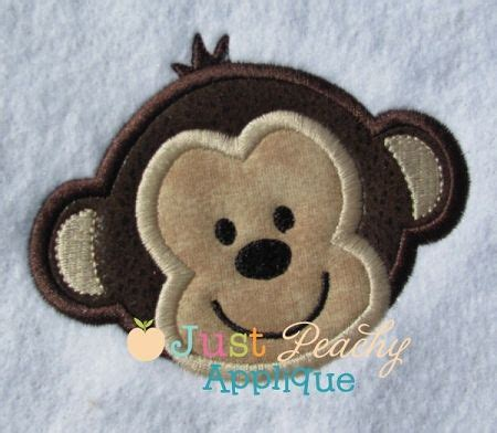 monkey applique monkey applique design monogram everything machine