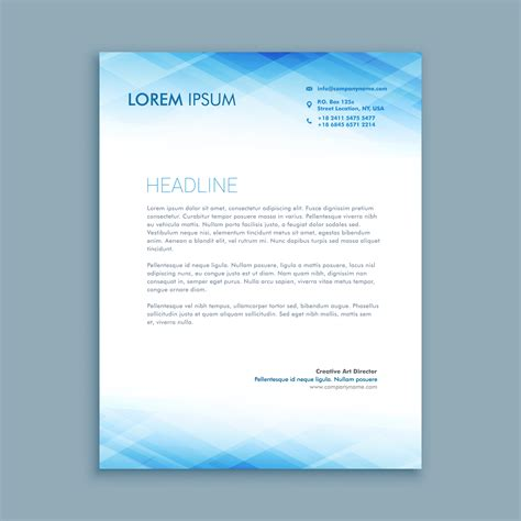 abstract business letterhead template vector design
