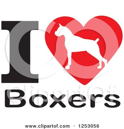 clipart illustration   boxer dog  cropped ears