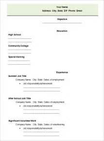 simple high school student resume template 40 blank resume templates free sles exles format free premium templates