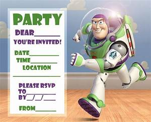 free toy story woody and buzz lightyear party invitation With toy story invites templates free