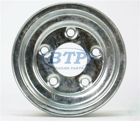 Boat Trailer Wheel Pattern by Boat Trailer Wheel 8 Inch Galvanized 5 Lug 5 On 4 1 2 Bolt