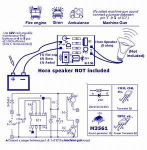 Horn Sound Generator Circuit
