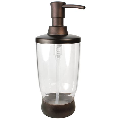 shop interdesign clear bronze soap lotion dispenser at