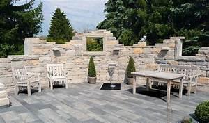 Gartenmauern Aus Naturstein : gartenmauer mediterran bilder kunstrasen garten ~ Sanjose-hotels-ca.com Haus und Dekorationen