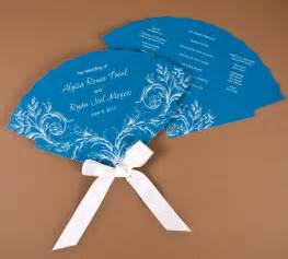 how to print wedding programs do it yourself weddings diy fans for your wedding day