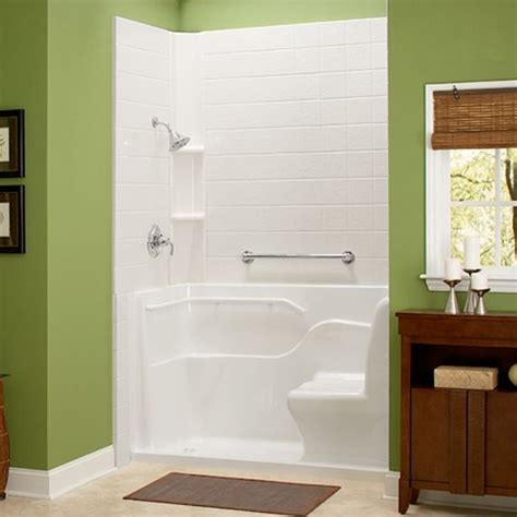 walk in shower tub for seniors shower with seat and grab bar small lip for entry
