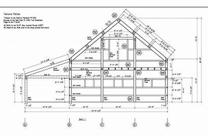Barn Drawing Timber Frame Construction Typical Software