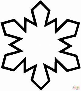 Simple snowflake coloring page | Free Printable Coloring Pages