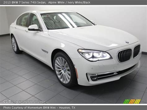 Alpine White  2013 Bmw 7 Series 740i Sedan  Ivory White