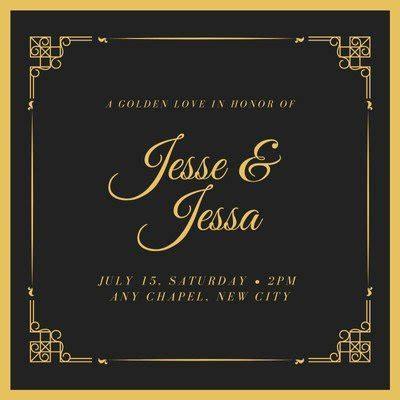 Free and Printable Custom Wedding Invitations Canva