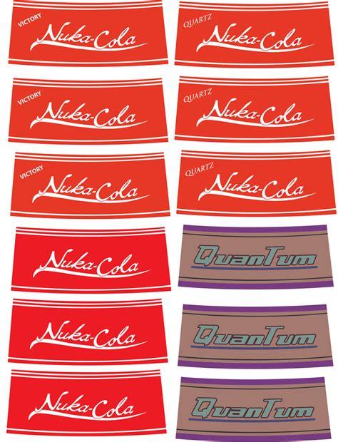 nuka cola quantum label printout nuka cola quartz victory and quantum labels by falloutfood