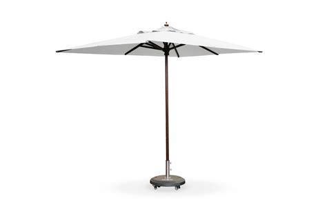 2m x 3m rectangular wooden umbrella white patio warehouse
