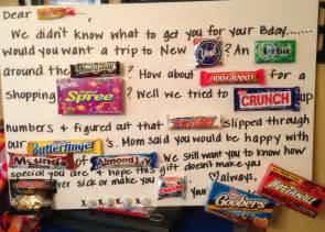 Birthday Candy Card Pinterest