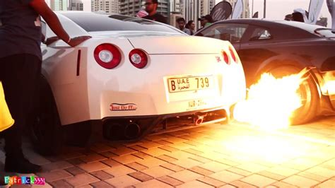Gtr Shooting Flames Wallpaper by White Nissan Gt R Shooting Flames Sssupersports