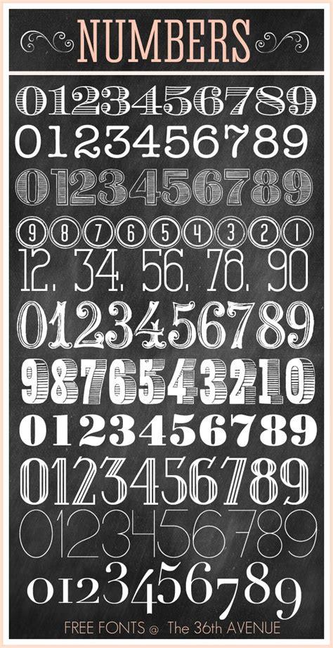 number fonts  print images printable number fonts
