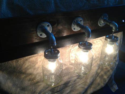 Primitive Rustic Mason Jar Hanging Light Fixture Country