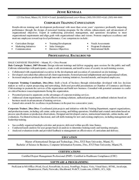 Trainer Resume Sle by Pin By Meade On What I Want Resume Resume