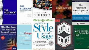 Style Guides And Manuals