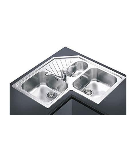 lavello angolare   vasche da cucina  acciaio inox smeg spa mancini mancini shop