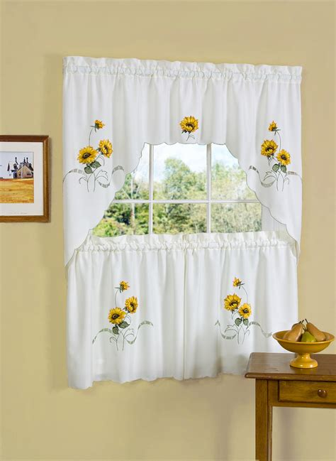 country curtains for kitchen sunflower kitchen curtains home the honoroak 6734