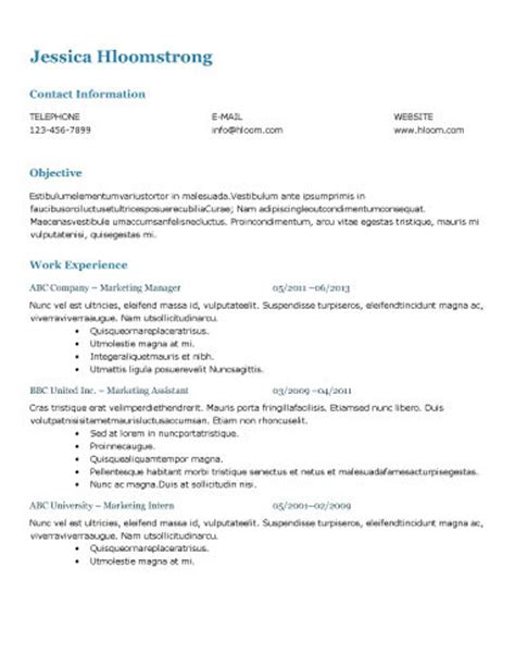 Formal Resume Exle by Ats Resume Format Exle 28 Images Resume Exles For