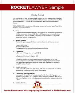 catering contract catering contract template with sample With catering contracts templates