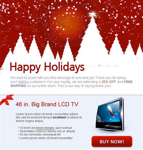 beautifully designed christmas email templates