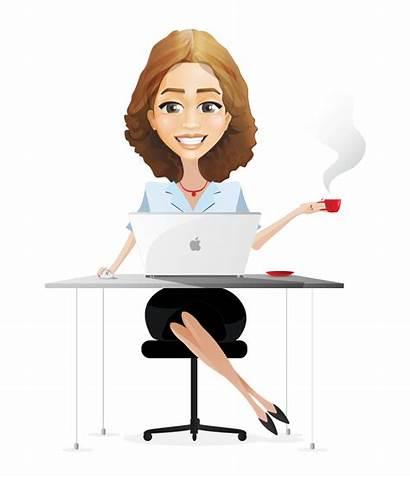 Cartoon Clipart Female Businesswoman Woman Lawyer Business